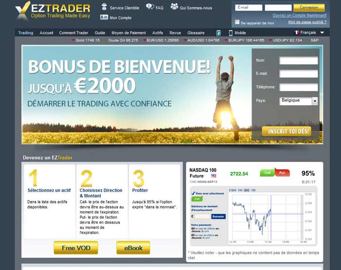 Simulation trading options binaires
